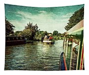 10946 Cruising On The Grand Union Canal Tapestry