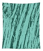 Bark Texture Turquoise Tapestry