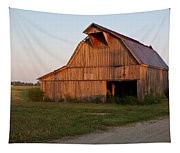 Barn At Early Dawn Tapestry
