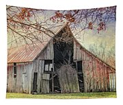 Barn Of The Indian Summer Tapestry