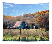Barn In Liberty Mo Tapestry