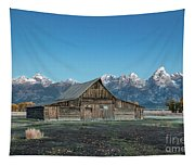 Barn On Mormon Row Tapestry