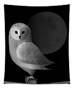 Barn Owl Full Moon Tapestry
