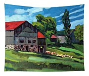Barn Roofs Tapestry