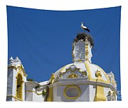 Baroque Church And Storks Nest Tapestry