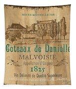 Barrel Wine Label 2 Tapestry