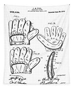 Baseball Glove Patent 1910 Tapestry