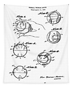 Baseball Training Device Patent 1961 Tapestry