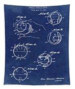 Baseball Training Device Patent 1961 Blue Tapestry
