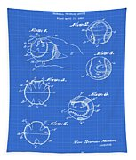 Baseball Training Device Patent 1961 Blueprint Tapestry
