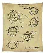 Baseball Training Device Patent 1961 Sepia Tapestry