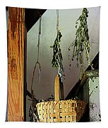 Basket And Drying Herbs Tapestry