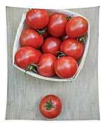Basket Of Fresh Red Tomatoes Tapestry
