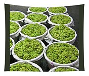 Baskets Of White Grapes Tapestry