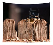 Bat Squirrel  The Cape Crusader Known For Putting Away Nuts.  Tapestry