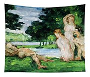 Bathers Male And Female Tapestry
