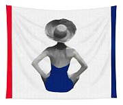 Bathing Beauties Usa Red White Blue Tapestry