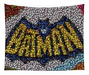 Batman Bottle Cap Mosaic Tapestry