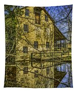 Batsto Gristmill Reflection Tapestry