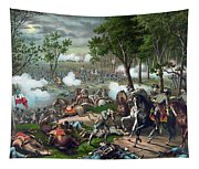 Battle Of Chancellorsville - Death Of Stonewall Tapestry