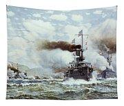 Battle Of Manila Bay 1898 Tapestry