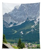 Bavarian Alps With Shed Tapestry