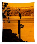 Bay At Sunrise - Heron Tapestry