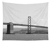 Bay Bridge In Black And White Tapestry