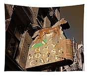 Bay Horse Cafe Sign Tapestry