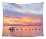 Bay Sunset Tapestry
