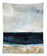 Beach- Abstract Painting Tapestry by Linda Woods