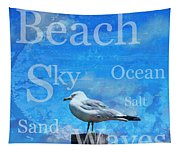 Beach Art Seagull By Sharon Cummings Tapestry