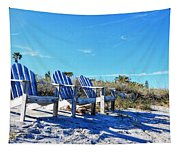 Beach Art - Waiting For Friends - Sharon Cummings Tapestry