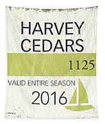 Beach Badge Harvey Cedars Tapestry