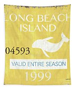 Beach Badge Long Beach Island 2 Tapestry
