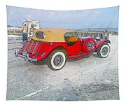 Beach Car Tapestry