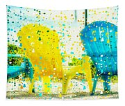 Beach Chair Print Tapestry