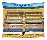 Beach Closed Asbury Park Nj Tapestry