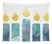 Beach Colors Menorah- Art By Linda Woods Tapestry