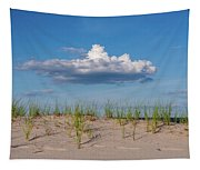 Beach Dune Clouds Jersey Shore Tapestry