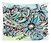 Beach Glass Flowers 1- Art By Linda Woods Tapestry
