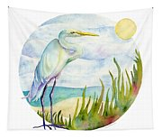 Beach Heron Tapestry