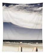 Beach Holiday Man Vertical Panorama Tapestry