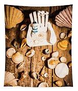 Beach House Artwork Tapestry