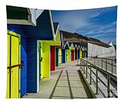 Beach Huts At Barry Island Tapestry
