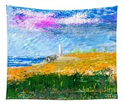 Beach Lighthouse Tapestry