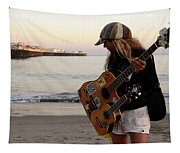 Beach Musician Tapestry