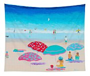 Beach Painting - A Golden Day Tapestry