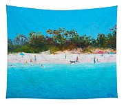 Beach Painting All Summer Long Tapestry