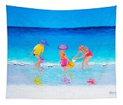 Beach Painting - Water Play  Tapestry